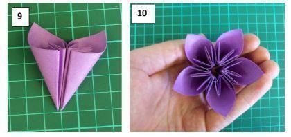 Красивый цветок в технике оригами. Мастер класс.6