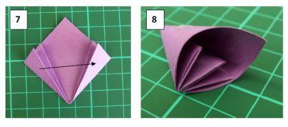 Красивый цветок в технике оригами. Мастер класс.5