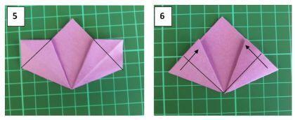 Красивый цветок в технике оригами. Мастер класс.4
