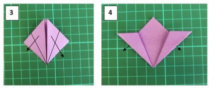 Красивый цветок в технике оригами. Мастер класс.3