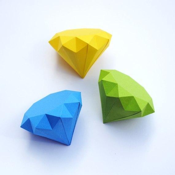 Бриллианты из бумаги4