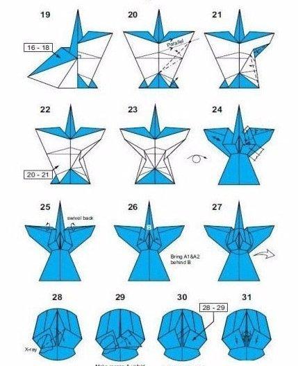 Ангел из бумаги в технике оригами4