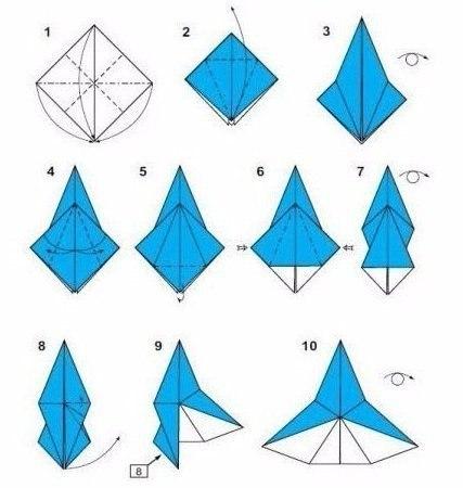 Ангел из бумаги в технике оригами2