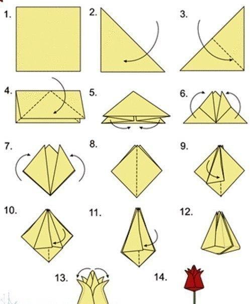 Тюльпаны оригами своими руками
