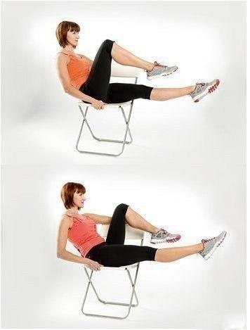 Упражнения для плоского животика