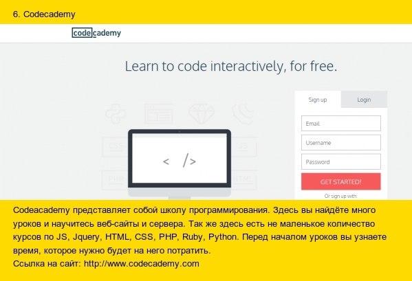 10 лучших сайтов для изучения программирования6