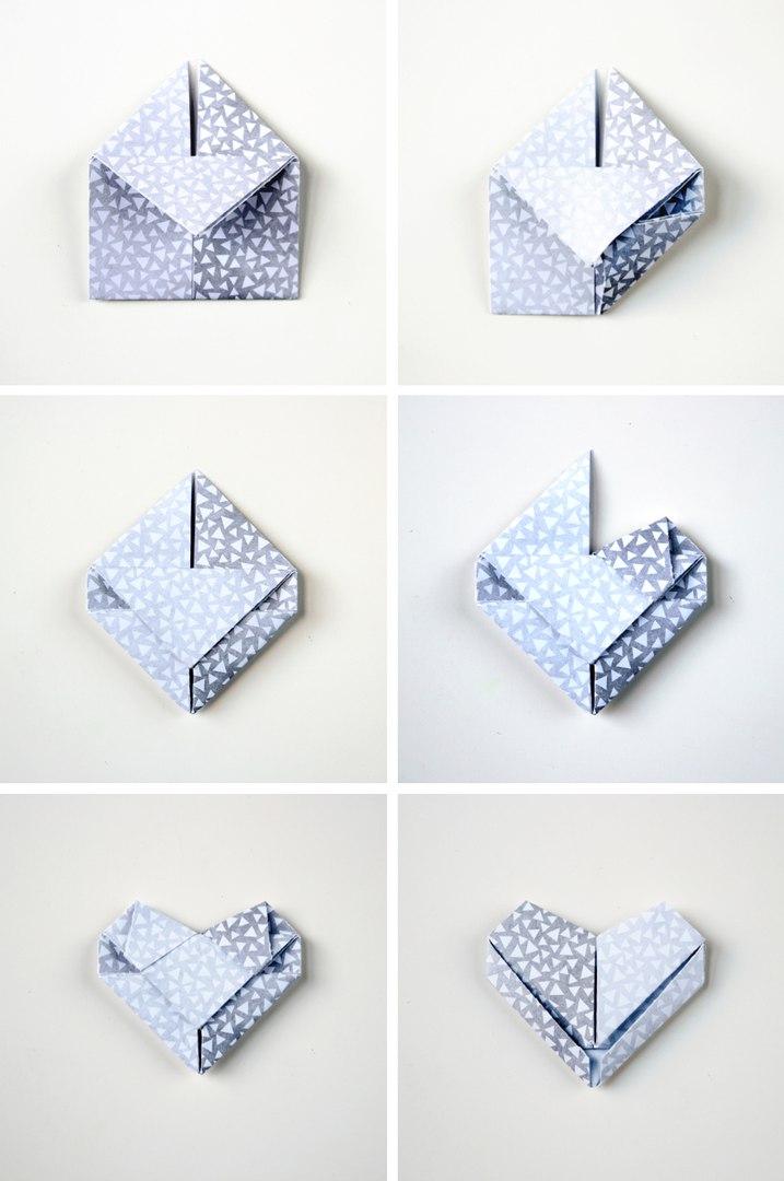 3D сердце в технике оригами4