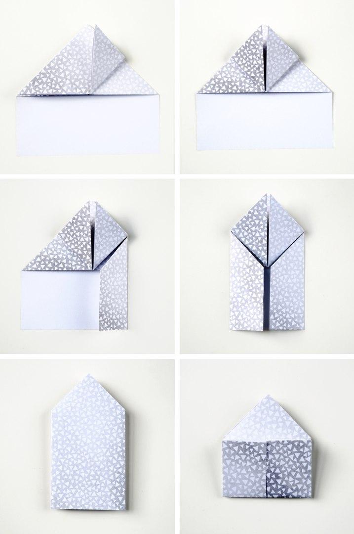 3D сердце в технике оригами3