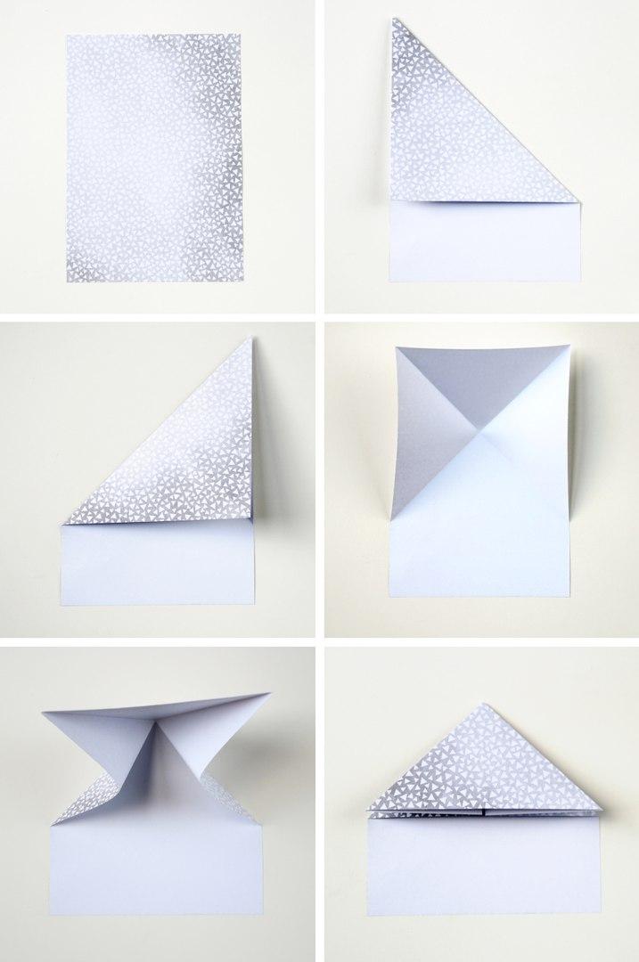 3D сердце в технике оригами2