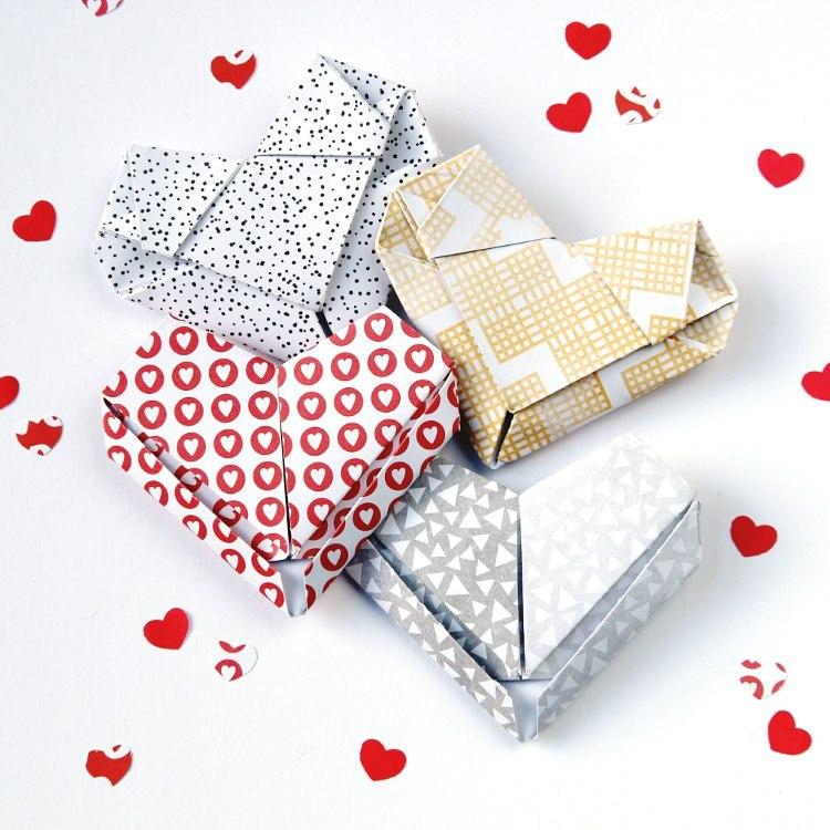 3D сердце в технике оригами