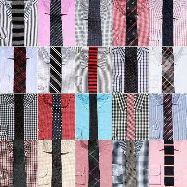 Как сочетать рубашку с галстуком