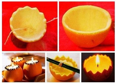 Апельсиновые свечи