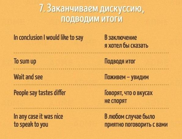 Полезные фразы на английском языке7
