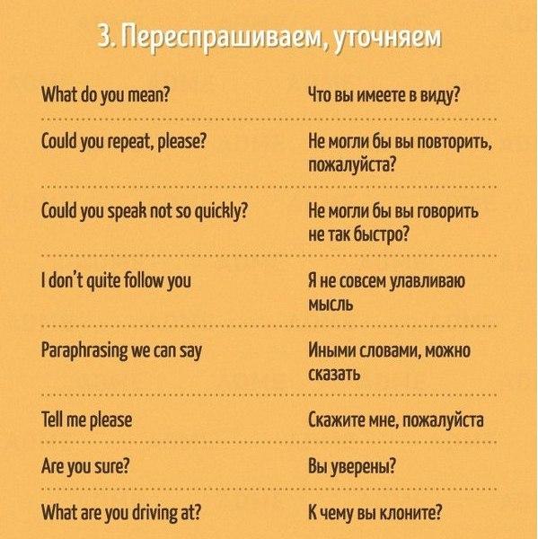 Полезные фразы на английском языке3