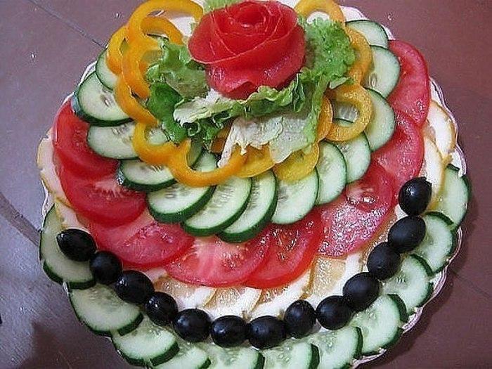 Оформление овощных нарезок