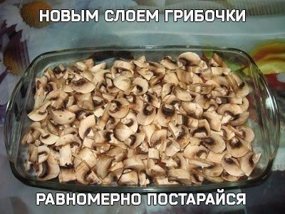 Шикарная куриная запеканка с грибочками под сырным соусом3
