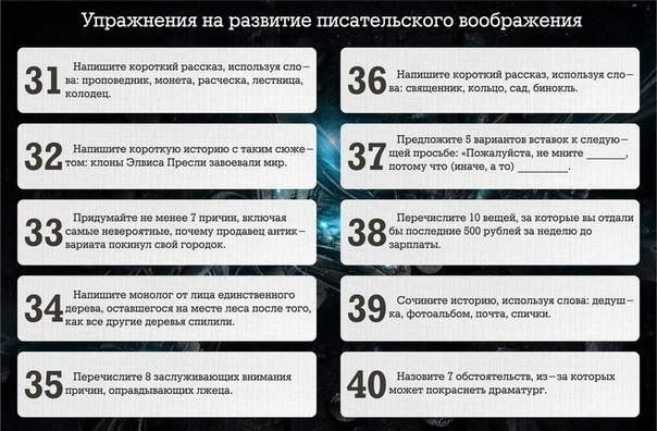 43 упражнения для развития писательского мастерства4