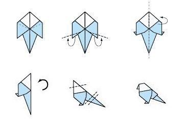 Птички-оригами. Можно использовать как рассадочные карточки3