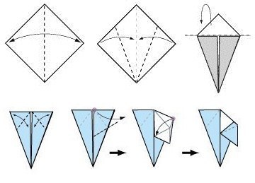 Птички-оригами. Можно использовать как рассадочные карточки2
