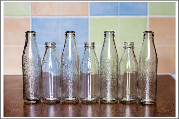 Яркие вазочки из бутылок2