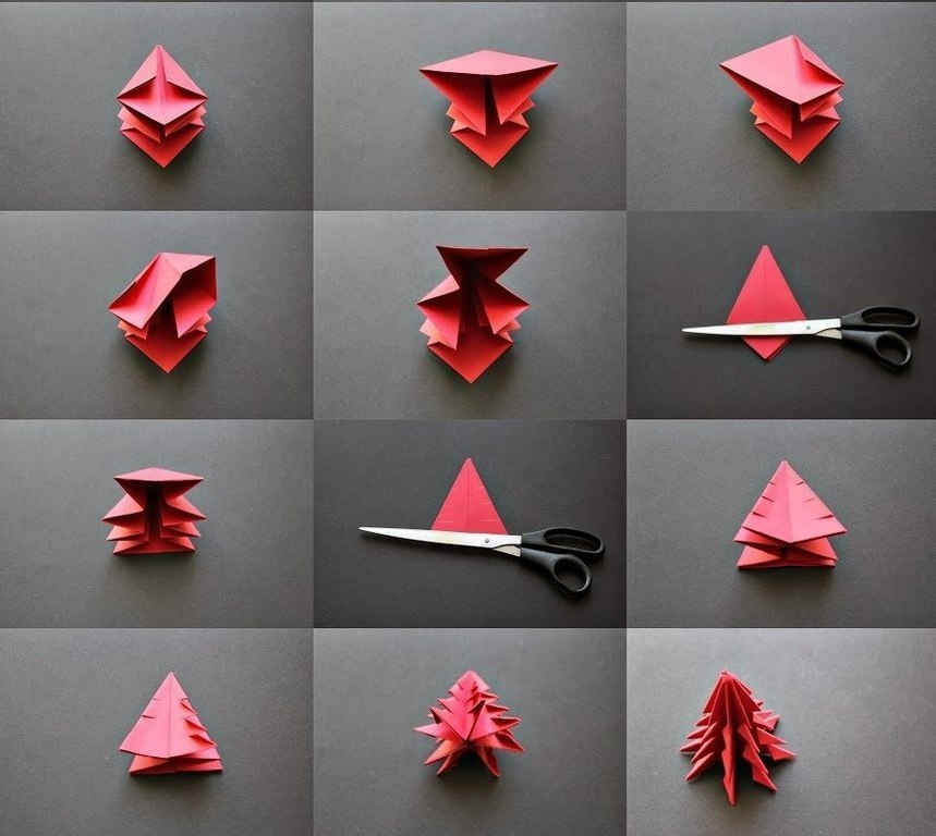 Фото оригами на новый год своими руками