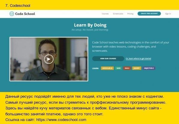 10 лучших сайтов для изучения программирования7