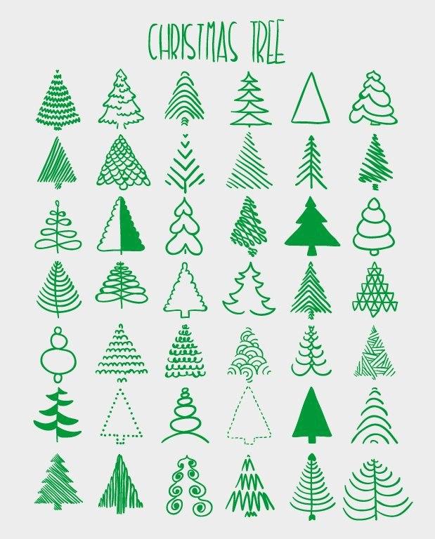 42 варианта как нарисовать ёлочку