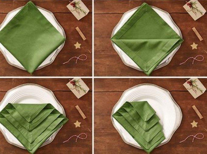 Как красиво сложить салфетку2