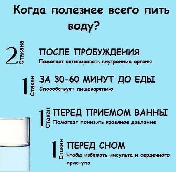 Правильное время, чтобы пить воду