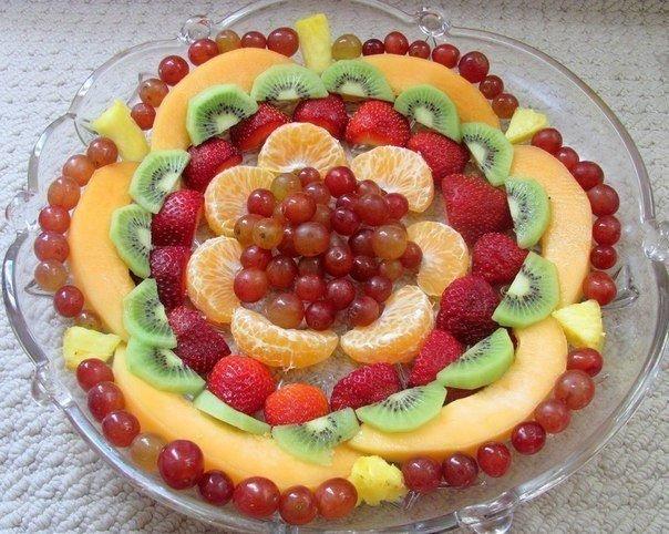 Красивые фруктовые тарелки