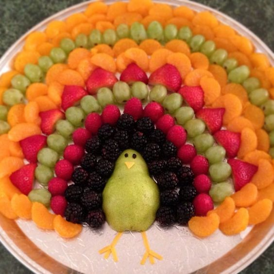 Оригинальная подача фруктов на детском празднике