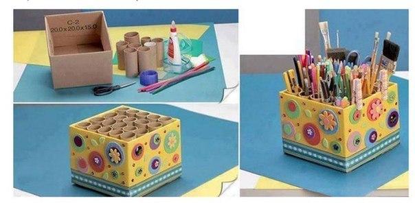 Органайзер для карандашей, ручек, кисточек, ножниц и прочей канцелярии