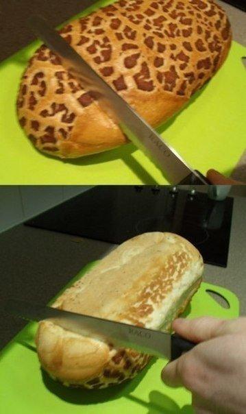 Хлеб можно порезать без всякий усилий, если его перевернуть