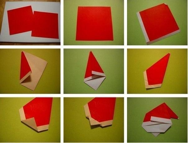 Оригами Санта3