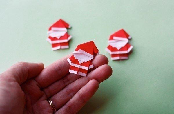 Оригами Санта