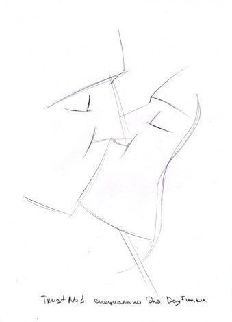 Как нарисовать поцелуй карандашом2