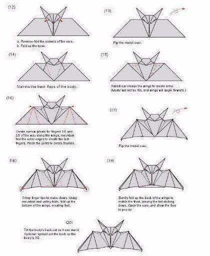 Летучая мышь оригами - frederikshamn
