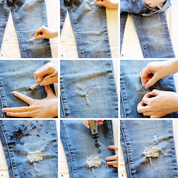 Как сделать дырку в шортах