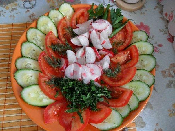 Как красиво нарезать овощи, оформить салат фото