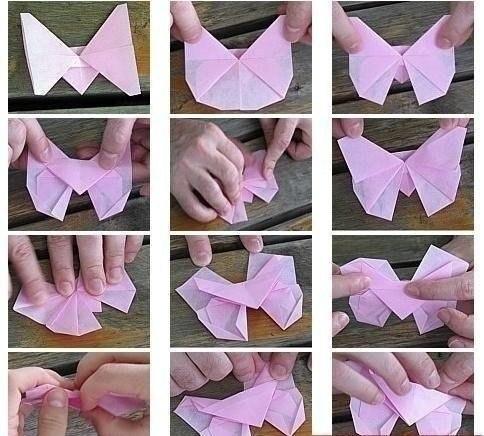 Бабочка оригами4