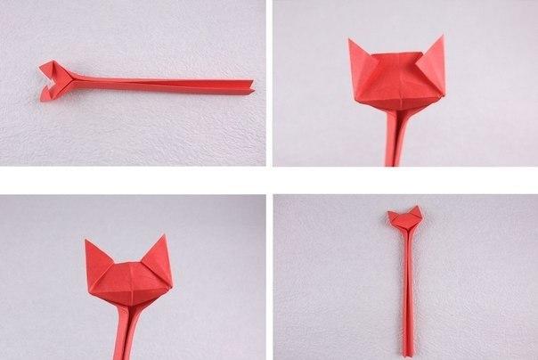 Кошечка оригами5