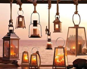 Садовые фонари для свечей 1