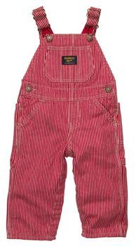 Lined Hickory Stripe Overalls