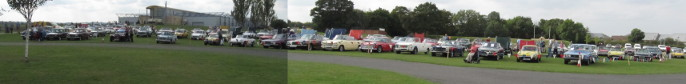 A selection of Triumphs at Duxford