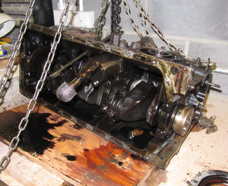 Innards of an engine bottom end