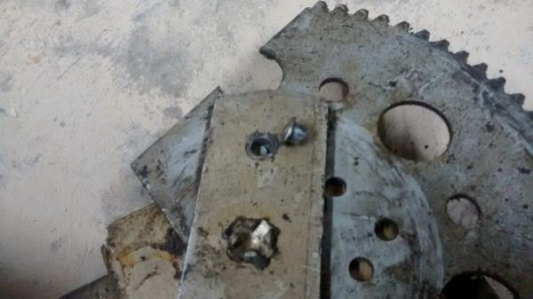 Broken window regulator pin