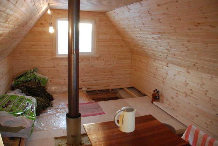 дизайн второго этажа в бане фото