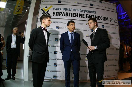 Петр Осипов рассказывает о БМ на конференции