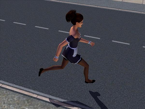maid running