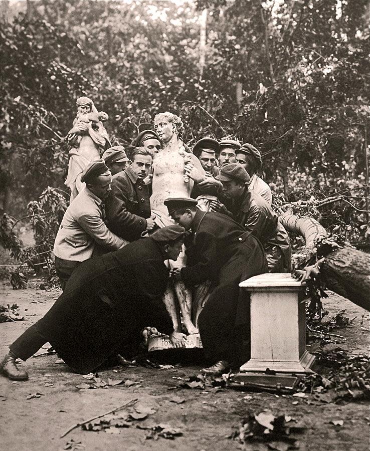 енинград, был сильно разрушен Летний сад, сентябрь, 1924 г.